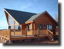 Finish a log home with Messmers Timberflex