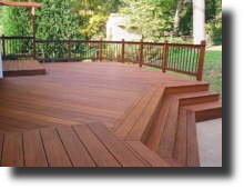 Stain an ipe hardwood deck