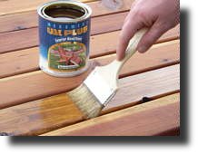 Stain a wood deck with Messmers UV Plus
